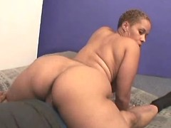 Black BBW w big boobs sucks n fucks