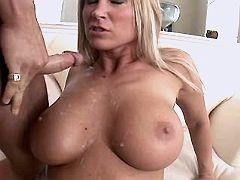 Milf fucks n gets cum on great tits