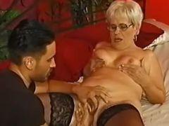 Plump grandma spoils latin macho