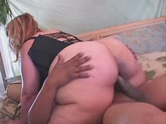 Sweet breasty fatty gets drilled