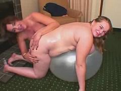 Sex of two tremendous fat lesbians