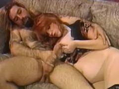 Redhead pregnant milf seduces man