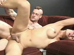 Hot blond shemale ass fucked by man