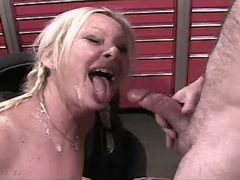 Blonde mature has sex and gets cum