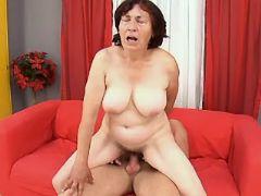 Nice granny fucked by horny dude