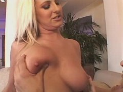 Lustful fatty gets hot jizz in orgy