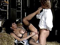 Sex adventure with beautiful milf jockey in stable