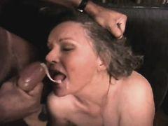 Elder mature has anal n gets facial