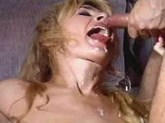 Blonde mature gets facials in orgy