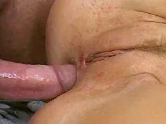 Blonde gets anal massage