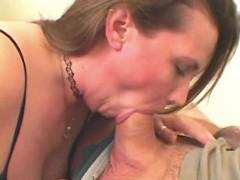 Plump lady fucked on sofa