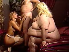 Fat woman has fun in orgy