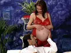 Pregnant girl seduces man