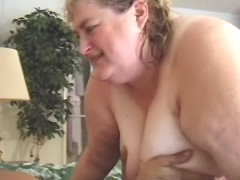 Obese busty lady drilled