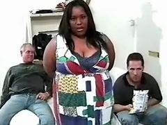 Three men share fat ebony