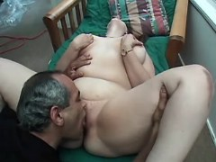 Chubby girl enjoys oral