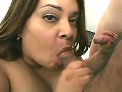 BBW in fuck and blow orgy