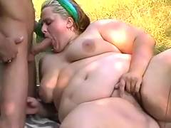 Colossal woman fucks in forest