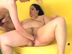 Young fat cutie rides thin guy