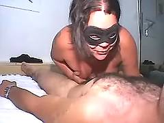 Sappy BBW plays with cock