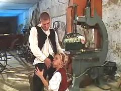 Girl gives head machinist