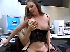 Secretary dance on dick