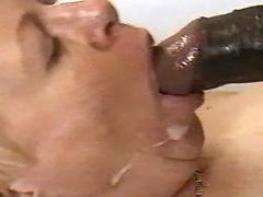 Granny gets cum in mouth