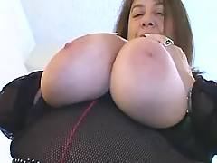 Oldie teases giant breast