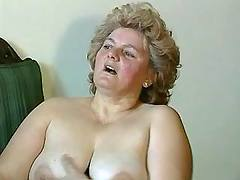 Fat mature mom is licked