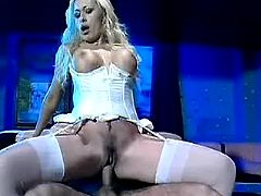 Blond angel jump on cock