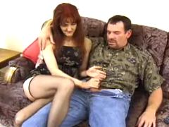 Mature gets mouth fucked
