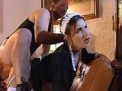 Man fucks beautiful maid