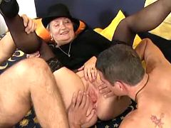 Three old farts in orgy