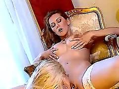 Lesbian licks juicy pussy