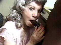 Granny greedily sucking