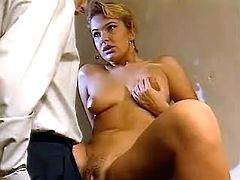 Horny lady gets fucked