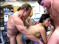 Hot ts fucked by two guys
