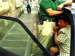 Covered mom sucks in car