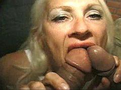 Old nasty whore sucking