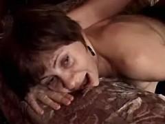 Granny enjoys meaty cock