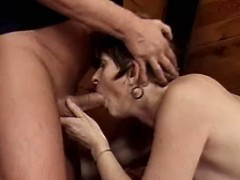Mature sucks n gets fuck