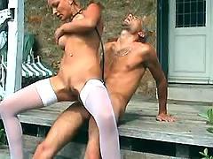 Sexy blond nurse get anal