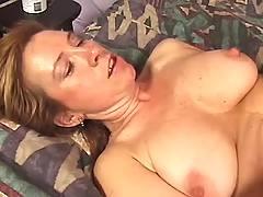 Mature lady gets hot cum