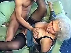 Naughty boy fucks granny