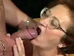 Old mature gives blowjob