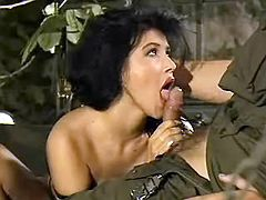 Slutty blows military man