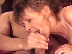 Mom catch cum after sex
