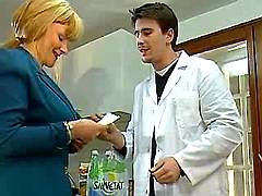 Milf blows young doctor