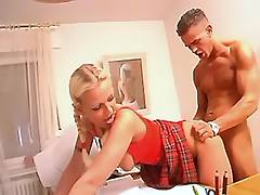 Blonde getin juicy facial