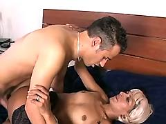 Blonde assfucked in hotel
